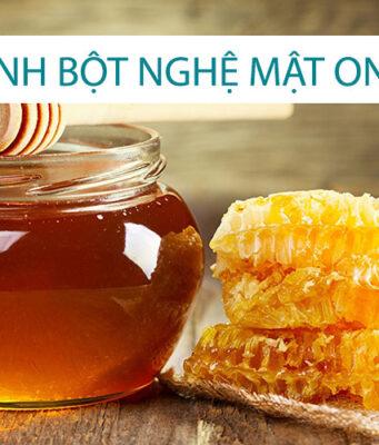 Cách uống tinh bột nghệ mật ong