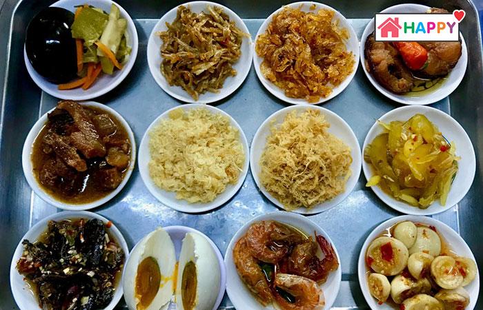 Những món ăn ăn kèm món cháo trắng Hàng Xanh